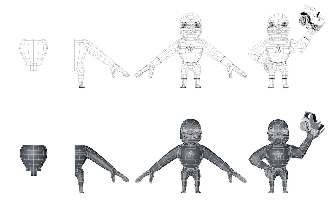 Workflow der Modellierung: Yi Xie